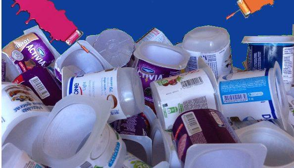 ¿Fabricar pintura con envases de yogurt?